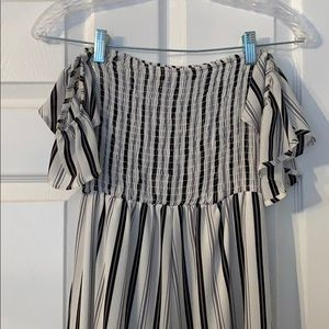 Never worn striped Altar'd State jumpsuit